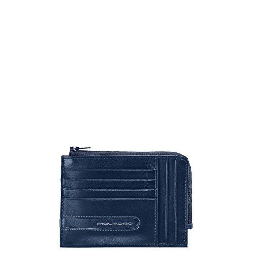 Piquadro Portemonnaie blau/grau