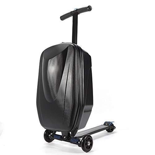 DX.JLY Multifunction Scooter Suitcase Foldable Trolley Case Bags Travel Trolley Luggage Scooter Backpack for Airport Travel