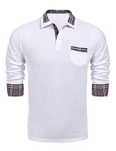COOFANDY Herren Poloshirt Classic fit Golf Polohemd kartiert Kragen Casual Business Poloshirts