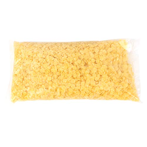 500g Beeswax Pellets Yellow White Food Grade Pure Natural Organic Pastilles Bees Wax for DIY Candles Lipstick Soaps(Yellow)