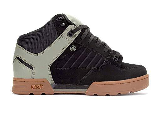 Dvs Footwear Mens Herren Militia Boot Militär, Springerstiefel, Nubukleder schwarz Oliv, 45 EU