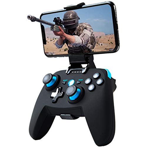 Maegoo Controller Android/PC/PS3, Bluetooth Wireless Android Mobiler Game Controller mit Einziehbarer Halterung, 2.4G Wireless PC/PS3/TV Controller Gamepad mit Dual Vibration