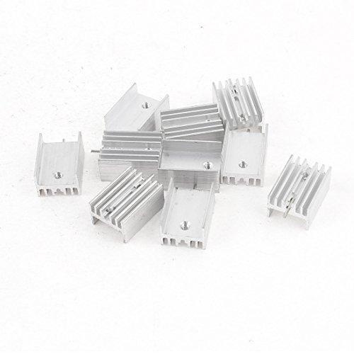 sourcing map 10 Stücke 21x15x10mm Aluminium Kühlkörper für TO-220 Mosfet Transistoren de DE de