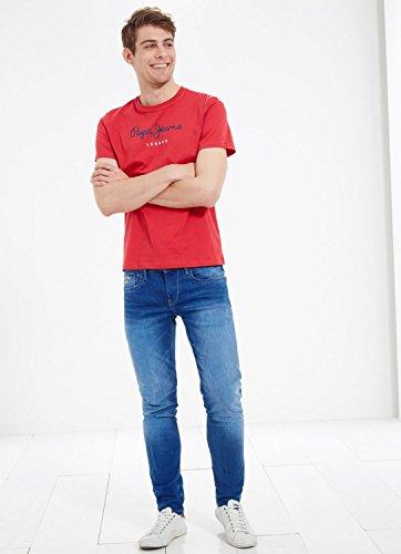 Pepe Jeans Eggo, Camiseta Para Hombre, Rojo (255Red), X-Small