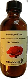 OliveNation Rose Extract - Extremely Concentrated Natural Rose Extract - Size of 2 oz