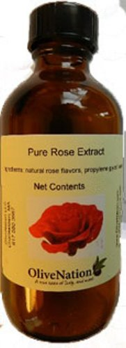 OliveNation Pure Rose Extract - 4 ounces - Premium Quality Flavoring Extract for Baking