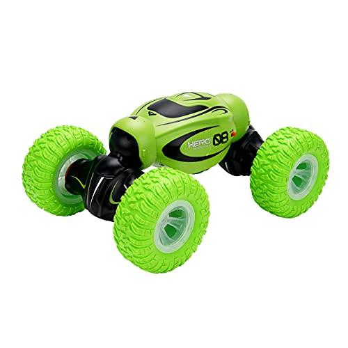 Kikioo Stunt Drift Car Off-Road Control Remoto Car 4WD Twisting Car 2.4GHz Remote Control Car RC Recargable Control Remoto Coche Luces LED para Nieve Grava Pastizales Niño niña Adulto Divertido Coche