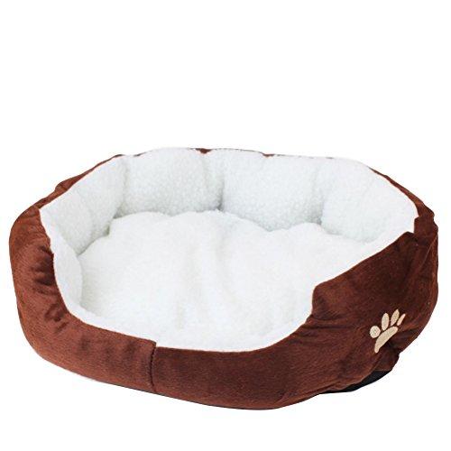 Demarkt–Cama para perros Gato algodón Pet cama cojín para perros gatos animales pequeños S 50x 40cm
