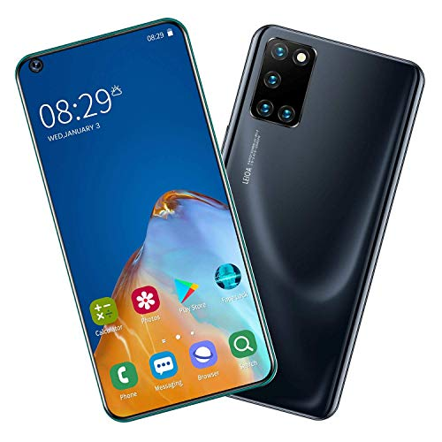 QSs-Ⓡ P47 Smartphone ohne Vertrag Günstig (7.2 Zoll) HD, 5000mAh, 4GB RAM 64GB ROM, Android10.0, WLAN, Fingerabdruck, Face ID, Dual SIM Handy
