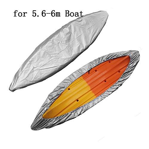 YING-pinghu Kayak Zubehör Bootfahren Wassersport Kayak Lagerung Abdeckung Zubehör Universal 3M-6.5M Lagerung Transport UV Schutz Block-Boot-Abdeckung for Ruderboote (Color : 5m Silver)