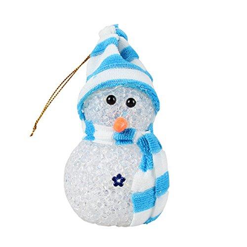 DAYAN veilleuse cristal Décorations de Noël LED Père Noël allume bonhomme de neige de style 1