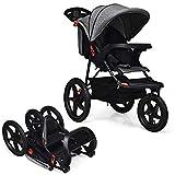 GOPLUS Kinderwagen, Buggy mit Liegefunktion, Baby-Stroller mit 5-Punkt-Gurt, Zusammenklappbarer...