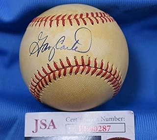 GARY CARTER JSA Coa Autograph Feeney National League Hand Signed BasebaLL