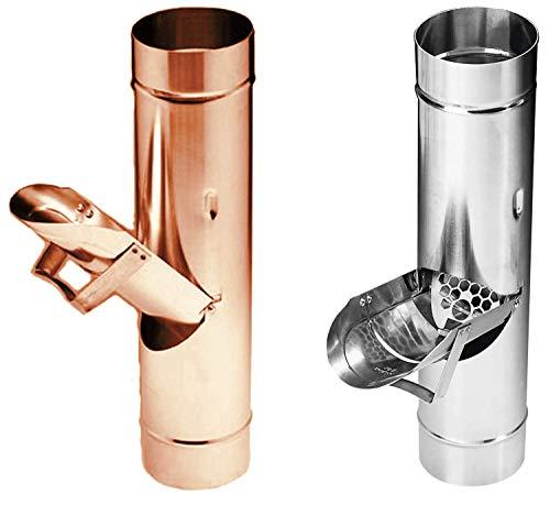 Regenrohrklappe Titanzink in den Größen 60, 76, 80, 87 und 100 mm (100 mm)