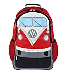 BRISA VW Collection - Volkswagen Combi Bus T1 Camper Van Grand Sac à Dos pour Ordinateur, Sacoche rembourré avec de Nombreux Compartiments pour Bureau/Université/École/Hiking/Sport (30L/Rouge)