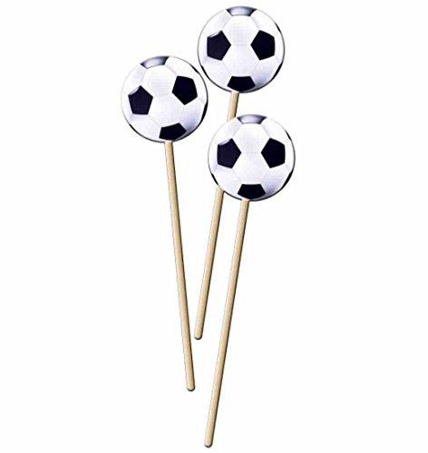 8 Pickser * FUSSBALL-STADION * mit Sticker für Party und Geburtstag // Kinder Geburtstag Party Fete Set Jungen Fussball Soccer