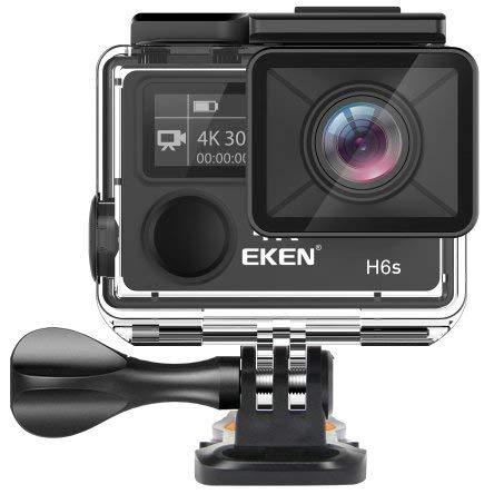 EKEN H6S Action Camera 4K EIS Image Stabilization 170°, Pantalla LCD 2'', 2.4G WiFi Remote Controller Waterproof