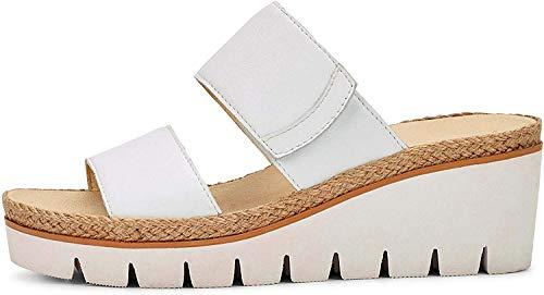 Gabor Shoes Damen Casual Pantoletten, Weiß (Weiss 21), 35 EU