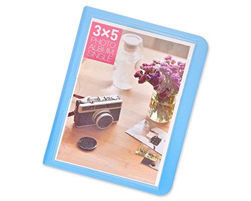 DSstyles Fotoalbum 32 Pockets Foto Buch Mini Album Buch für Fujifilm Instax Wide 300, Wide 210, Wide 200 Fotos - Blau