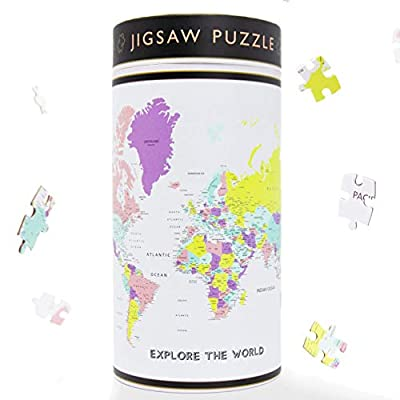 The Adventure Kids 200 Piece Explore The World Map Puzzle for Kids - Geography Made Fun Kids Puzzle - Educational Jigsaw Puzzle for Kids Ages 8-10