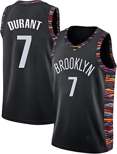 WSUN Camisetas De Baloncesto para Hombre NBA Brooklyn Nets # 7 Kevin Durant Basketball Swingman Edition Mesh Jersey Chaleco Deportivo Camiseta Sin Mangas Superior,S