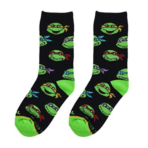 Cool Socks, Kid's, Ninja Turtles, TMNT Raph Leo Mickey Donnie, Crew, 80's Silly