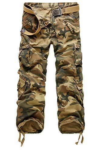 FLYF Camouflage Cargo Hose Herren Freizeit Militär Hose Army Stretch Bundeswehr Hosen