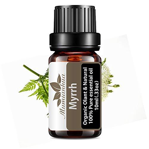 Mumianhua 10ml Myrrhe Düfte Pflanzen Kräuter ätherisches Öl Premium Duftöl Bio Pure ätherischen ölen für Diffusor Yoga Massage & DIY Körperpflege