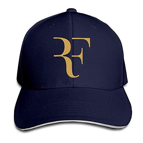 Pimkly Unisex Hüte,Baseballmützen, Roger Federer Logo Sandwich Peaked Hat & Cap