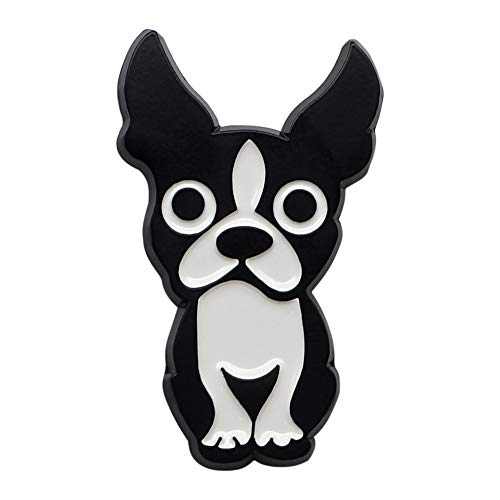 CUFTS Boston Terrier Enamel Pin, Metal Black Dog Brooch Gifts for Dog Lovers Boston Terrier Lapel Pin Jewelry