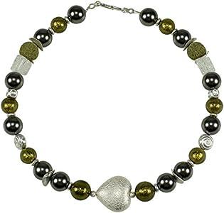 'Collar Cadena con colgante Liva Original Murano cristal diseño joyas oro piedras preciosas, fabricada a mano hecha a mano.
