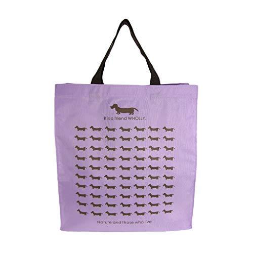 優美社 エコバッグ 犬柄 ブルー 約縦36×横33×マチ12cm WHOLLY A4 サイズ も持ち運べる 買い物袋 3L13-01