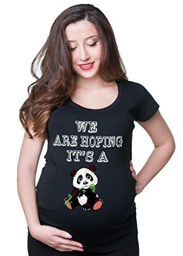 Milky Way Tshirts Femmes Nous espérons Que C'est Un Panda Large Noir