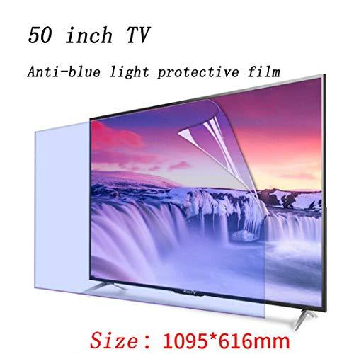 Protector de pantalla anti luz azul para monitor de TV de 50 pulgadas, antirreflejo antiarañazos para aliviar la tensión ocular, filtro de película protector de pantalla de computadora,A (1095*616mm)