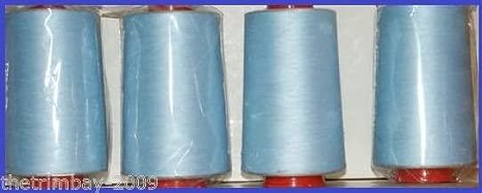 Azul 45 hilo para máquina de coser de poliéster 5000 yardas cuatro ...