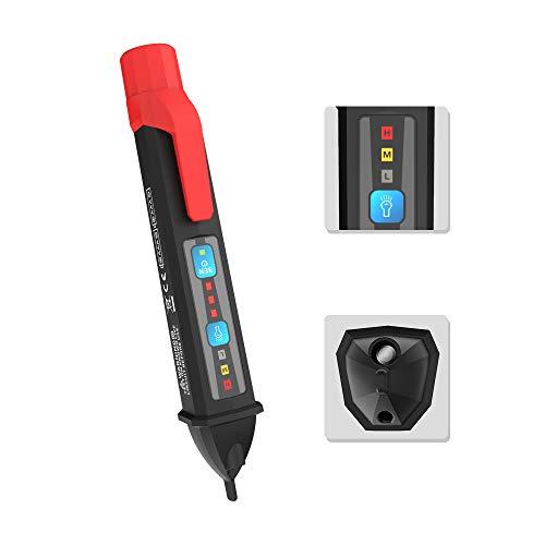Protmex Penna per Tester di Tensione Rilevatore di tensione Display LCD Sensibilità Utensili elettrici regolabili 202A
