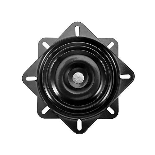 Sitzdrehplatte, Hochleistungs-Barhocker Drehbarer Ersatzstuhl Drehplattenhalter Schwarzer Sockel Kugellager Quadratischer Plattenteller