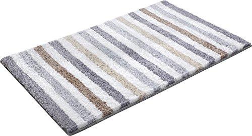 GRENSS Einfache gestreifte Stil Teppiche Shaggy Badematten Anti-Skid Wolldecken für Küche/Schlafzimmer Bett Matten Lange Teppiche waschbar Matten, B, 550 mm x 650 mm