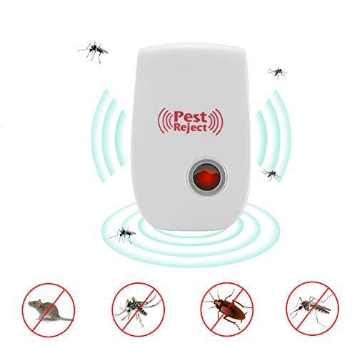 KangHan Repelente De Mosquitos Electrónico 3Pcs, Control De Roedores Asesino De Insectos De Mosquito Cucaracha De Interior Repelente De Plagas Ultrasónico