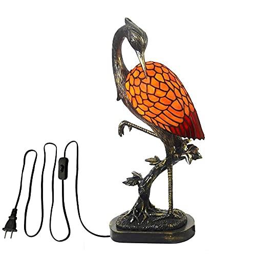Ckssyao Lámpara de Mesa Estilo Retro lámpara de Mesa de Vidrio Artesanal/lámpara de Noche extraña Nueva decoración de grúa (tamaño: m) (Color : Small)