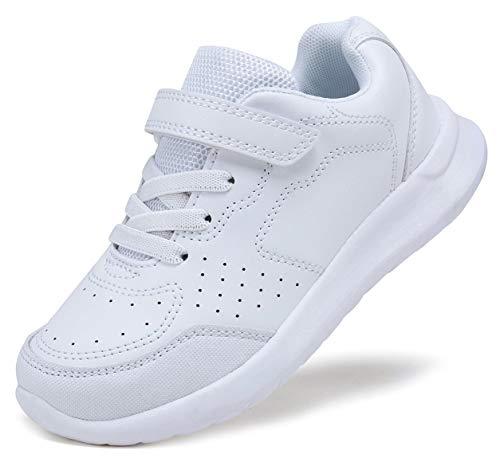 Nexete Ballet Dance Yoga Gymnastics Split-Sole Canvas Kids & Adult Shoes Slipper (5.5, White)