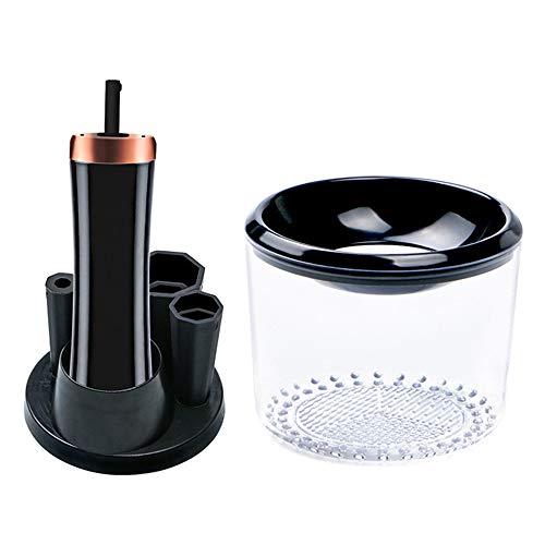JAYLONG Automatique Maquillage Brosse Fast Cleaner, UV électrique désinfection Kit de Lave-brosses de Maquillage, USB Recharge brosses Outil de Lavage avec 2 Niveaux de Vitesse,Black