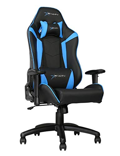 E-WIN Gaming Chair Ergonomic High Back Racing Style with Adjustable Armrest and Back Recliner Swivel Rocker Office Chair(Knight Series Blue)