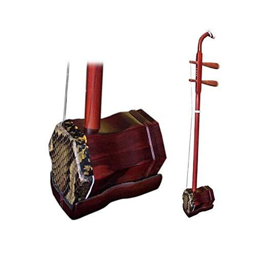 Erhu, Mahagoni Hartholz Erhu, Anfänger üben Eintrag professionelle Spiel Prüfung Instrumente, nationale Musikinstrument Daquan Paket (Farbe: Leicht rot) DUZG (Color : Slightly Red)