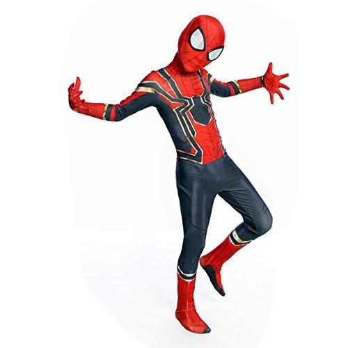 lkjhgf Kids Superhero Suits Halloween Cosplay Costumes 3D Style (Iron Spiderman, Large)