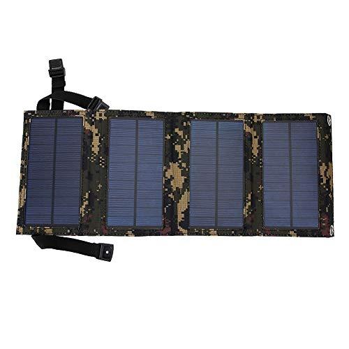 Caricabatterie da pannello solare pieghevole da 10W, Banca di alimentazione portatile da campeggio esterna con 4 pannelli solari, Carica batteria esterna a carica rapida Ricarica USB