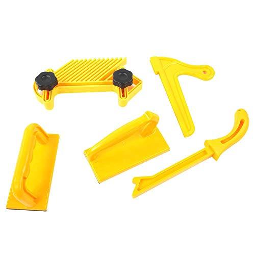 Juego de tablero de barra de empuje de seguridad, 5 herramientas de mesa de enrutador para carpintería para sierras de mesa, ensambladoras de mesas de enrutador y sierras de cinta