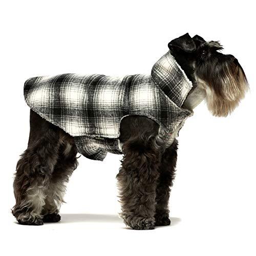 Fitwarm Thermo-Hundejacke, Sherpa-Jacke, Mantel, Haustier-Winterkleidung, Welpenweste, Hunde-Outfit, Schwarz, XL