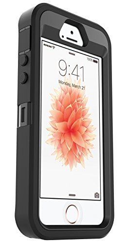 OtterBox Defender Series Case for Apple iPhone SE (1st Generation ONLY), iPhone 5s, iPhone 5 (Case Only, No Holster) Non-Retail Packaging - Black