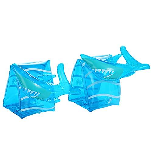 XYDZ Banda de Brazo Inflatable Flotador Natación Brazaletes Hinchables Manguitos 3D para niños 3-6 Años y Adultos Aprender a Nadar Actividades de Playa Piscina - Tiburón